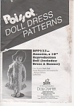 POISSOT(DPP237) DOLL CLOTHING PATTERN~10 INC