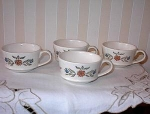 Click here to enlarge image and see more about item ECH011403D-1: Metlox Poppytrail LOT 4 Cups Flowers