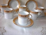 Click here to enlarge image and see more about item ECH011803C: GOLD Decorated Expresso or Childs Cup Set