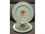 Click here to enlarge image and see more about item ECH021403K: Castleton China JUNE 3 PC. Dinnerware Setting