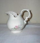Click here to enlarge image and see more about item ello11-1: Porcelain Cameo Pitcher HP roses Beautiful