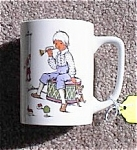 Click here to enlarge image and see more about item ELLO29: Porcelain Cup German Transfer Boy / Toys