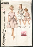 1960s VINTAGE Girls pattern UNCUT