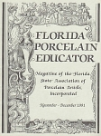 Click to view larger image of FLORIDA PORCELAIN EDUCATOR~NOV~DEC~ 1991~OOP (Image1)