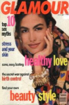 Click here to enlarge image and see more about item G1090: Glamour Magazine October 1990 INES SASTRE