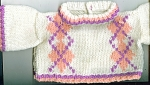 Click here to enlarge image and see more about item GA4: HAND KNIT DOLL CLOTHES FOR DOLLS