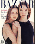 Click here to enlarge image and see more about item HB393: Harper's Bazaar Magazine 1993 Chancellor Mar