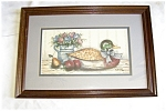 Click here to enlarge image and see more about item HOM01: DUCK DECOY FRAMED PRINT SIGND FRANKIE BUCKLEY