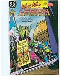 Click here to enlarge image and see more about item J0084: Who's who in the legion - DC comics   #4  Aug.1988