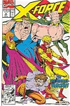 Click here to enlarge image and see more about item J0339: X-Force - Marvel comics.  # 5 Dec. 91