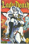 Click here to enlarge image and see more about item J0857: Lady Death = Chaos comics - June 1995 # 0A Yellow