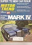 Click here to enlarge image and see more about item J10009: Motor Trend - August 1971