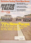 Click here to enlarge image and see more about item J10010: Motor Trend -  September 1971