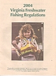 Click here to enlarge image and see more about item J10158: Virginia freshwater fishing regulations =- 2004