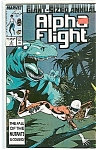 Click here to enlarge image and see more about item J1389: Alpha Flight annual -Marvel comics - # 2  1987