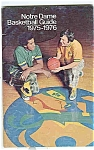 Click here to enlarge image and see more about item J1475: Notre Dame Basketball Guide 1975-1976