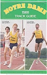 Click here to enlarge image and see more about item J1492: Notre Dame Track Guide 1988