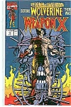 Click here to enlarge image and see more about item J1641: Weapon X - Marvel comics - # 72    1991