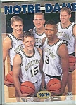 Click here to enlarge image and see more about item J2422: Notre Dame  Basketball Guide 1993-94