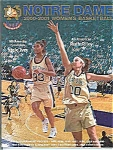 Click here to enlarge image and see more about item J2423: Notre Dame Women's Basketball  Guide 2000-2001
