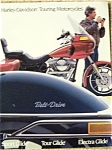 Click here to enlarge image and see more about item J2738a: Harley Davidson Motorcycle SALES BROCHURE 1984 12pg