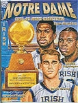 Click here to enlarge image and see more about item J2814: Notre Dame Basketball guide 2001-2002