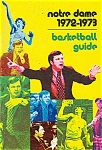 Click here to enlarge image and see more about item J2815: Notre Dame basketball  guide - 1972-1973