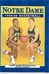 Click here to enlarge image and see more about item J2817: Notre Dame basketball guide 1988-89