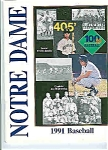 Click here to enlarge image and see more about item J2831: Notre Dame Baseball guide 1991