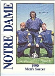 Click here to enlarge image and see more about item J2836: Notre Dame men's Soccer  guide 1990