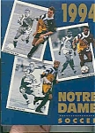 Click here to enlarge image and see more about item J2838: Notre Dame men's soccer guide 1994