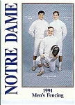 Click here to enlarge image and see more about item J2841: Notre Dame Men's and Women's Fencing 1991