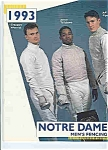 Click here to enlarge image and see more about item J2842: Notre Dame Men's & Women's Fencing 1993