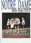 Click here to enlarge image and see more about item J2848: Notre Dame Men's & Women's tennis guide 1992-93