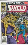 Click here to enlarge image and see more about item J2974: NickFury-shield =Marvel comics -  # 5 De c.  1989