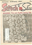 Click here to enlarge image and see more about item J4307: Stitch n Sew  Magazine - February 1969