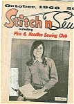 Click here to enlarge image and see more about item J4402: Stitch n Sew =October 1968