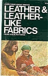Click here to enlarge image and see more about item J4596: LEATHER & LEATHERLIKE FABRICS from Vogue Patterns