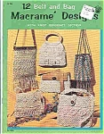 Click here to enlarge image and see more about item J4730: Macrame' Designs - Belt and bag