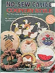 Click here to enlarge image and see more about item J4742: No-Sew Calico -Country style