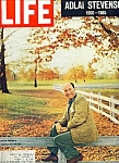 Click to view larger image of Life Magazine - Adlai Stevenson - July 23, 1965 (Image1)