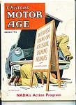 Click here to enlarge image and see more about item J6257a: Chilton's Motor Age -  March 1955