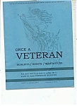 Click here to enlarge image and see more about item J6487a: Once a Veteran  booklet -  February 4, 1965