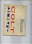 Click here to enlarge image and see more about item J6966: 1978 Colt Opeating instructions