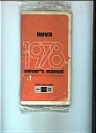 1978 Nova owner's Manual