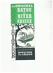 Click here to enlarge image and see more about item J7196a: The Original Bayou and River Cruise - 1940's-1950's