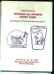 Click here to enlarge image and see more about item J7779: Michigan All-Arabian Horse show - July 1989