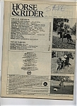 Click here to enlarge image and see more about item J7783: Horse & Rider - April 1987