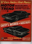 Click here to enlarge image and see more about item J8598: Motor Trend - July  1966