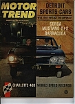 Click here to enlarge image and see more about item J8599: Motor Trend - January 1965